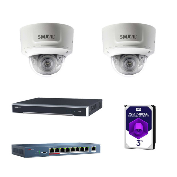 SMAVID PRO Starter-Set 1: IP 4 MP Dome
