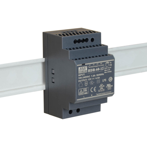 Mean Well Hutschienen-Netzteil 12VDC / 4,5A 54W