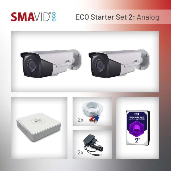SMAVID ECO Starter-Set 2: Analog 2MP Bullet