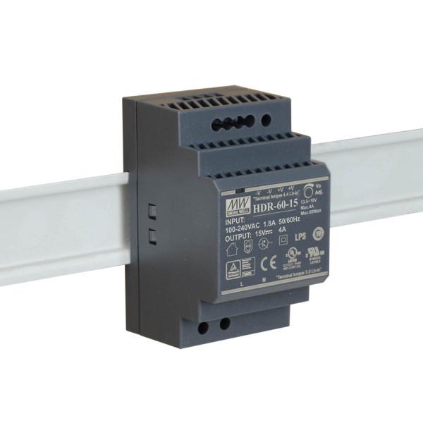Mean Well Hutschienen-Netzteil 15VDC / 4A 60W
